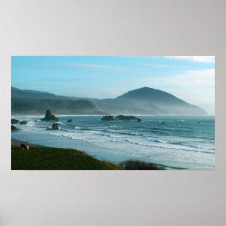 Poster de la costa de Oregon Póster