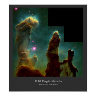 Poster de la creación de la nebulosa de M16 Eagle