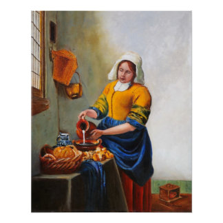 Poster de la criada de la leche póster