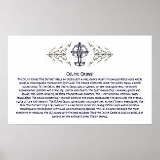 Poster de la cruz céltica Info