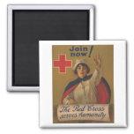 ¡Poster de la Cruz Roja - ahora únase a! Imán Para Frigorifico