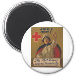 ¡Poster de la Cruz Roja - ahora únase a! Iman Para Frigorífico