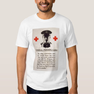 Poster de la Cruz Roja de general Pershing Playeras