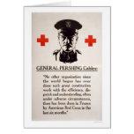Poster de la Cruz Roja de general Pershing Tarjeta