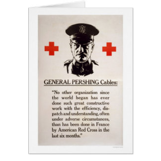 Poster de la Cruz Roja de general Pershing Tarjeta De Felicitación