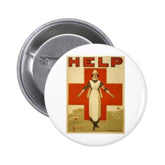 Poster de la Cruz Roja del vintage WW1 Pin