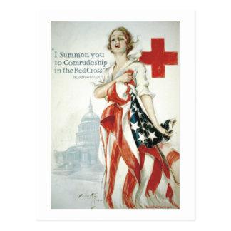 ¡Poster de la Cruz Roja - le convoco! Tarjeta Postal