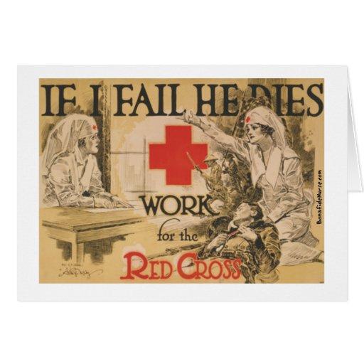 Poster de la Cruz Roja - si lo fallo muero Felicitación