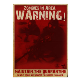 Poster de la cuarentena del zombi