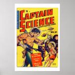 Poster de la cubierta de cómic de capitán Science