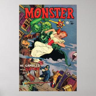 Poster de la cubierta de cómic del monstruo