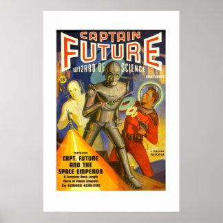 Poster de la cubierta de la pulpa de capitán Futur