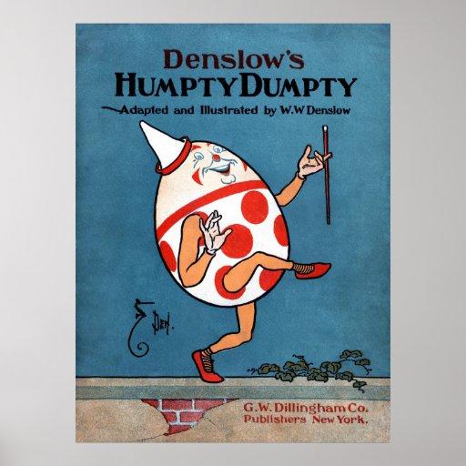Poster de la cubierta de libro de Humpty Dumpty de