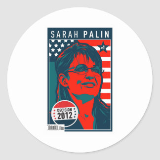 Poster de la cubierta de Sarah Palin Pegatina Redonda