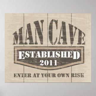 Poster de la cueva del hombre - establecido 2011