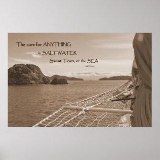 Poster de la curación del agua salada de la navega
