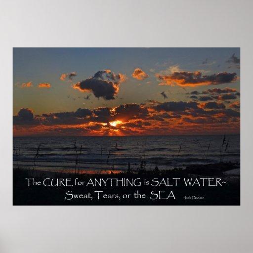 Poster de la curación del agua salada de la salida