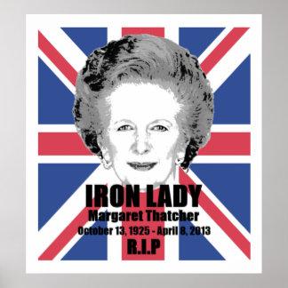 Poster de la dama de hierro R.I.P de Margaret That