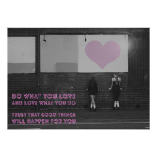 Poster de la danza del irlandés del amor - haga lo