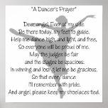Poster de la danza del rezo de un bailarín