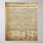 Poster de la Declaración de Independencia del vint