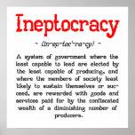 """Poster de la definición de Ineptocracy (24"""" x24"""")"""