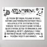 Poster de la definición de Steampunk
