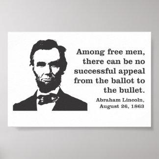 Poster de la democracia de Abraham Lincoln Póster