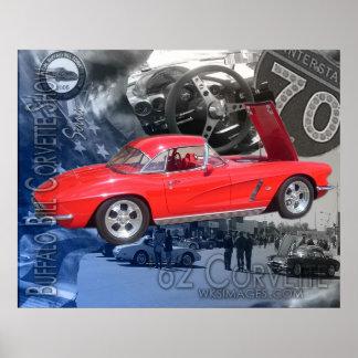 Poster de la demostración del Corvette de Buffalo
