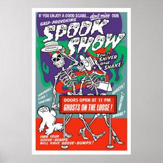 Poster de la demostración del espectro del vintage