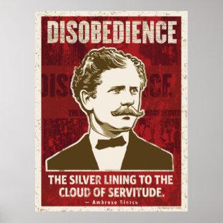 Poster de la desobediencia de Ambrose Beirce