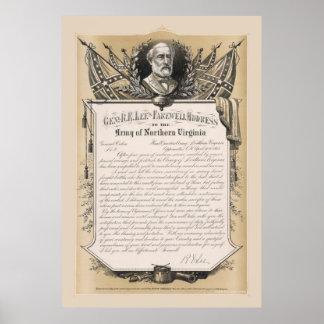 Poster de la dirección de despedida de general Rob