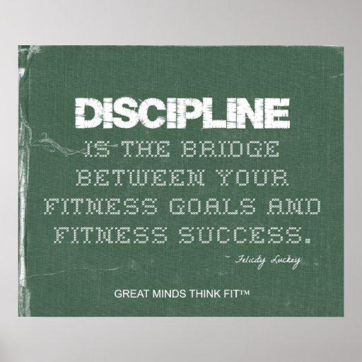Poster de la disciplina de la aptitud en dril de