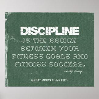 Poster de la disciplina de la aptitud en dril de a