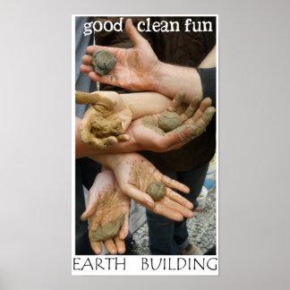 Poster de la diversión del edificio de la tierra