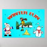 Poster de la diversión del invierno