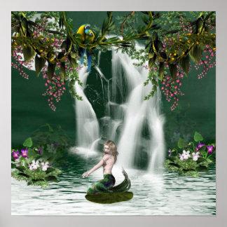 Poster de la ducha de la sirena