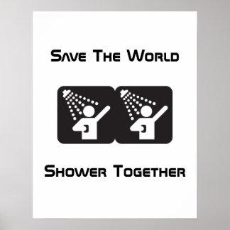 Poster de la ducha junto