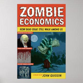 Poster de la economía del zombi póster