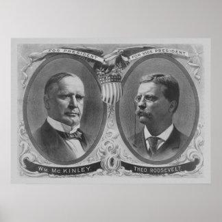 Poster de la elección de McKinley y de Roosevelt