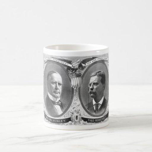 Poster de la elección de McKinley y de Roosevelt Taza De Café