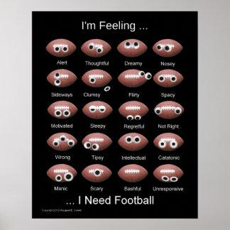 Poster de la emoción del fútbol
