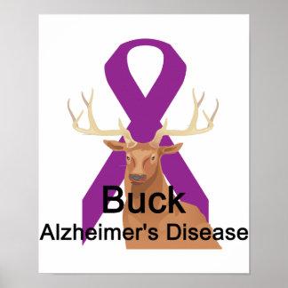 Poster de la enfermedad de Alzheimer del dólar Póster