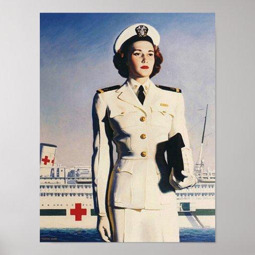 Poster de la enfermera de la marina de guerra del  póster