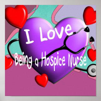 Poster de la enfermera del hospicio