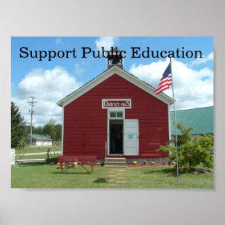Poster de la enseñanza pública de la ayuda