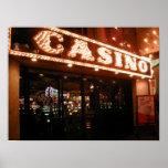 Poster de la entrada del casino de Las Vegas de la