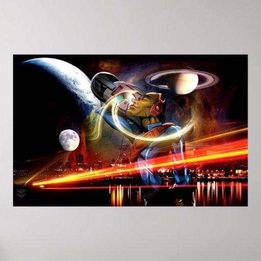 Poster de la era espacial