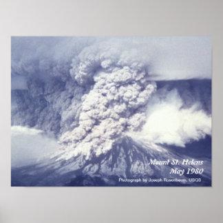 Poster de la erupción del Monte Saint Helens