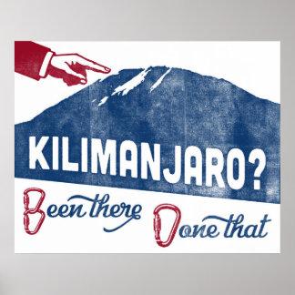 Poster de la escalada de Kilimanjaro